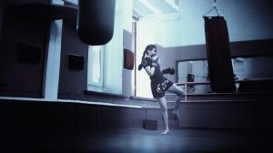 photo boxeuse entrainement